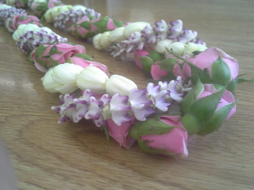 baby pink rosebud lei twist with pikake and baby crown yelp