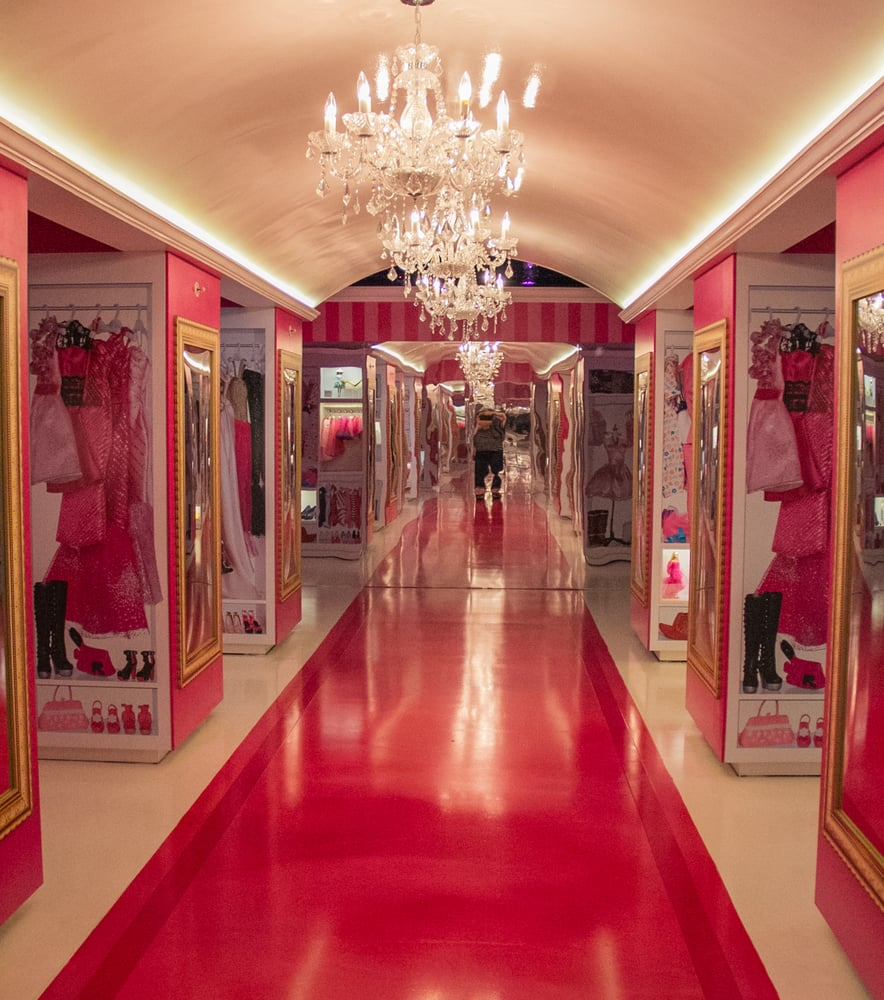 Barbie S Huge Closet Looks Just Like Her Closet In The