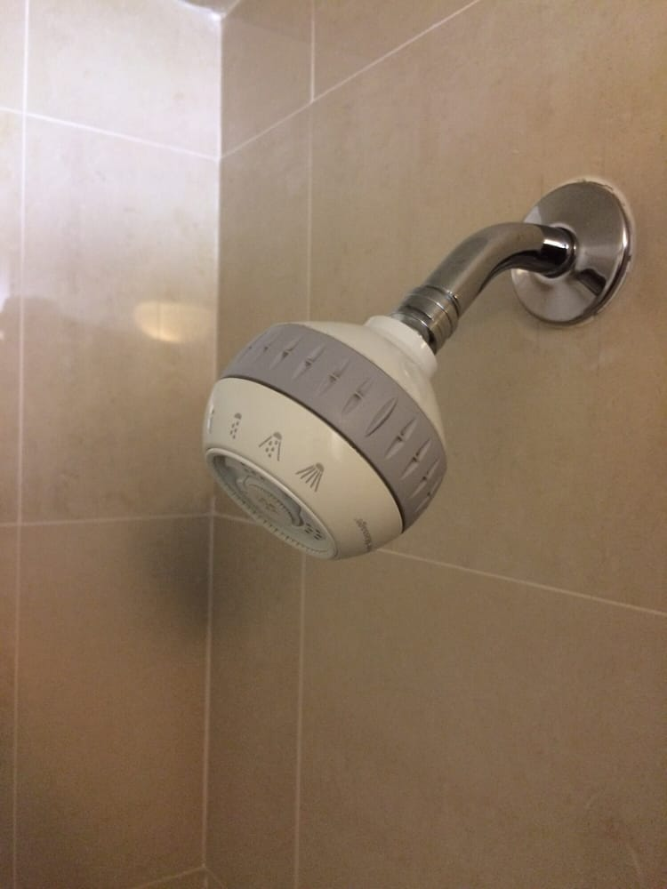 Ah, the spa treatment....or the cheapest shower head they could find ...