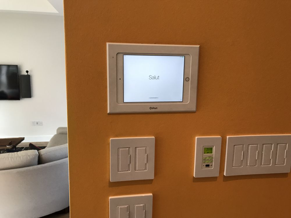 Photo of Premier Lighting Solutions - Dallas TX United States. iPad recessed mounted & iPad recessed mounted for whole house control smart home control. - Yelp
