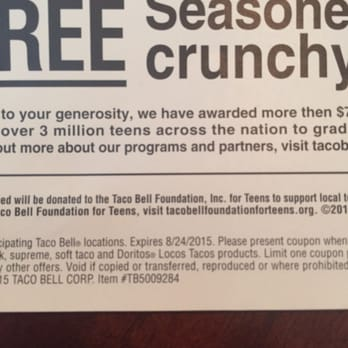 Taco bell breakfast coupons
