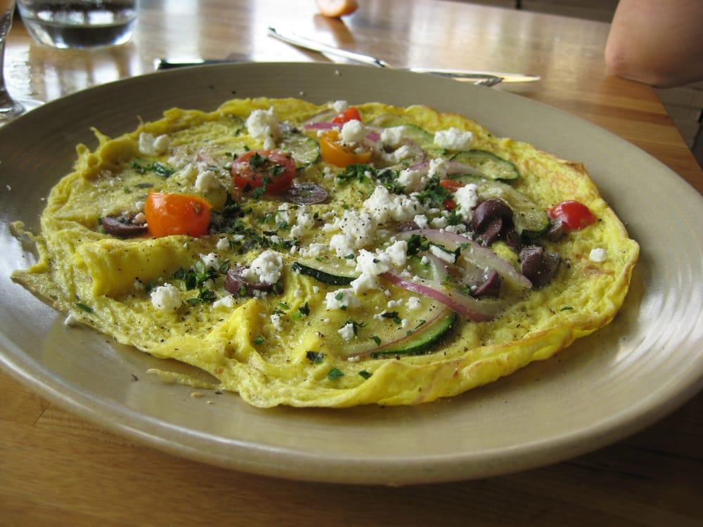 Greek Frittata - organic egg, tomato, onion, olives, feta ...