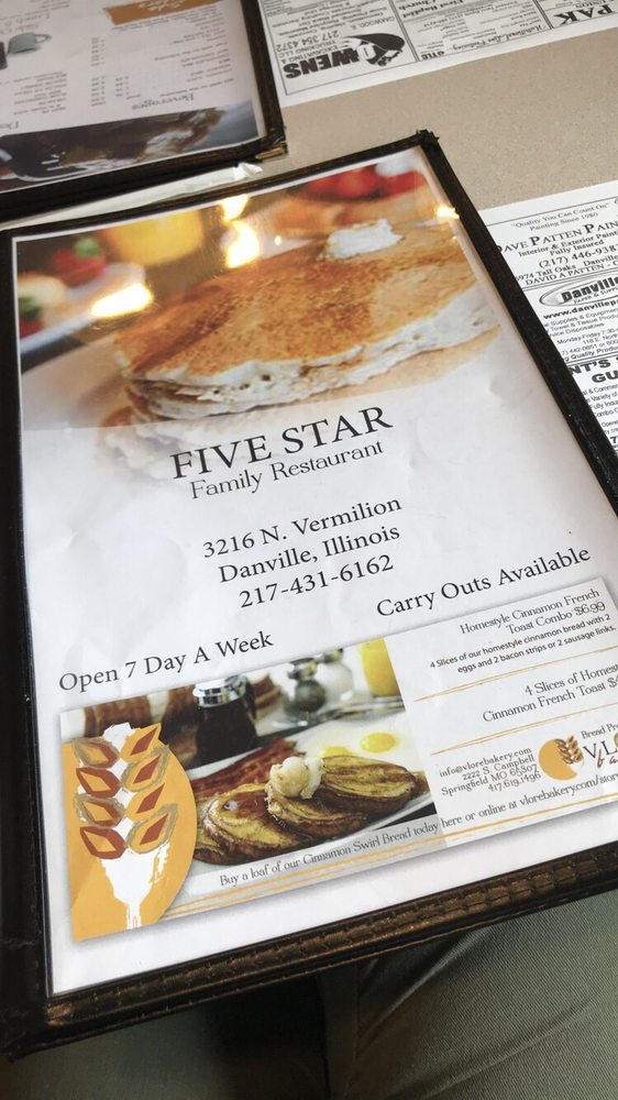 Five Star Family Restaurant Closed American Traditional