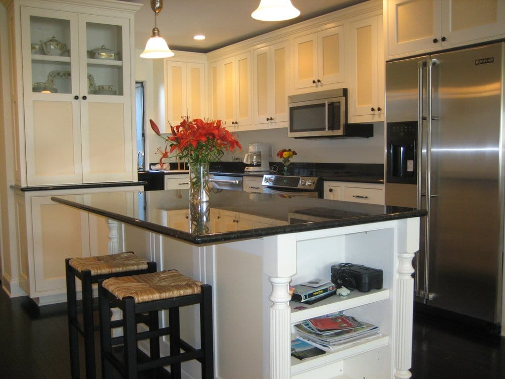 Dual Tone Kitchen Cabinets With Inset Doors And Matching Island Yelp