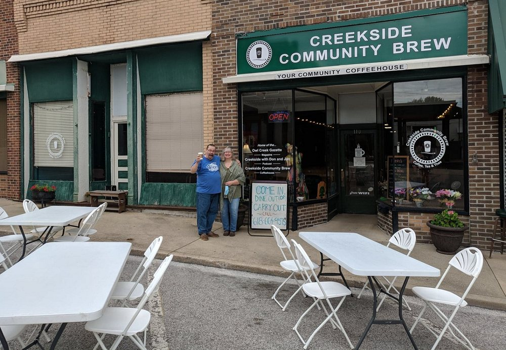 Creekside Community Brew Coffeehouse: 110 S 2nd St, Greenville, IL