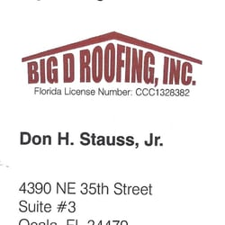 Photo Of D Roofing Ocala Fl United States