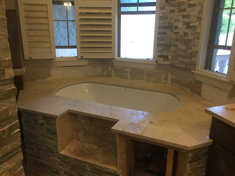 marble undermount tub deck - Yelp