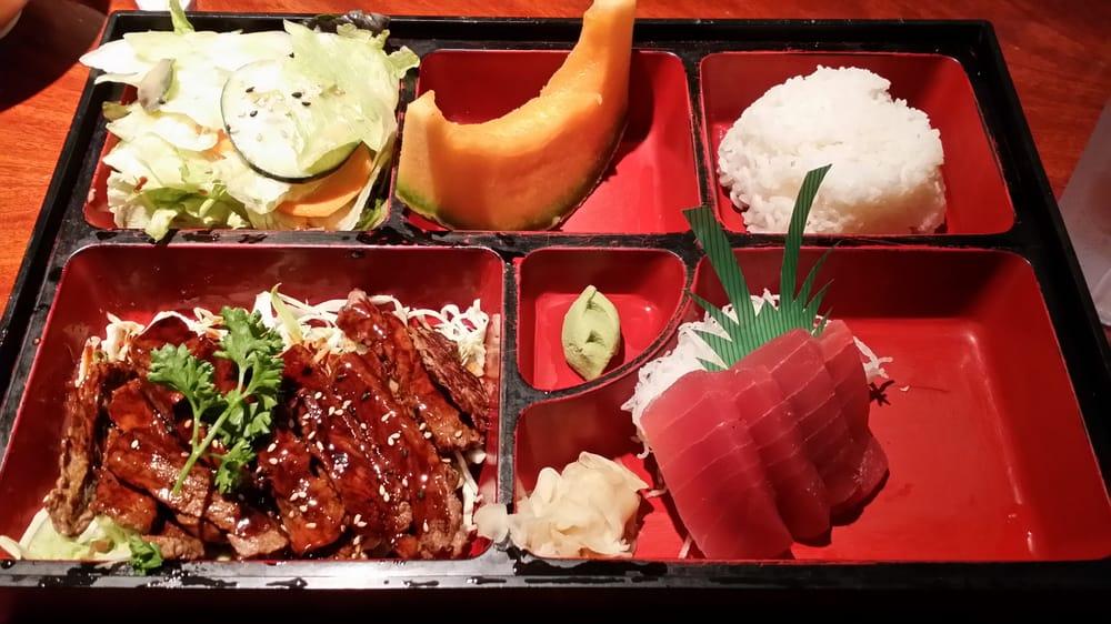 Shogun beef teriyaki with tuna sashimi yelp - Shogun japanese cuisine ...
