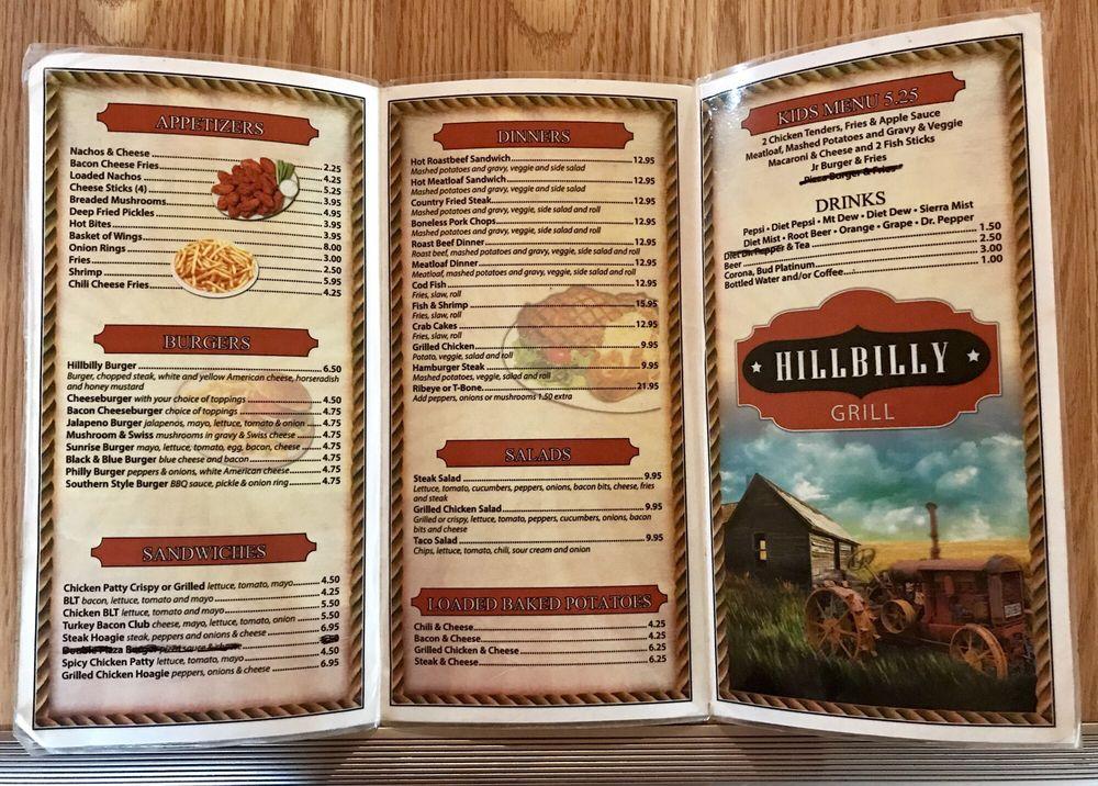 Hillbilly Grill: 1235 Stonecoal Lake Rd, Buckhannon, WV