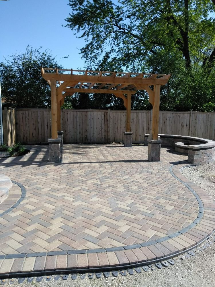 Photo Of Hope S Landscaping Aurora Il United States Sierra Hollandstone Patio With