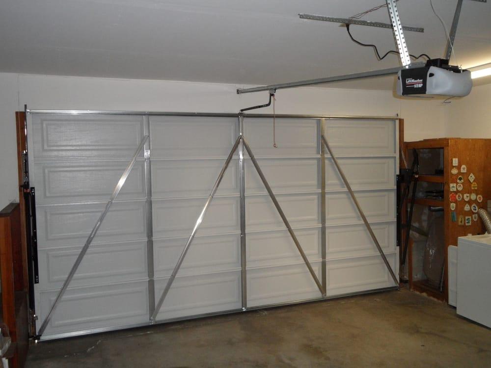 Photos From The Inside Of Garage Doors : New piece metal garage door with