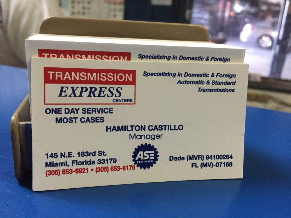 Transmission Express: 145 NE 183rd St, Miami, FL