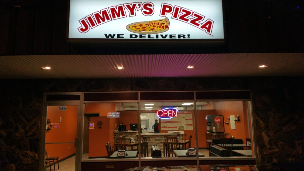 Food from Jimmy's Pizza