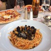 Pizza Pino - Paris, France. Seafood linguini