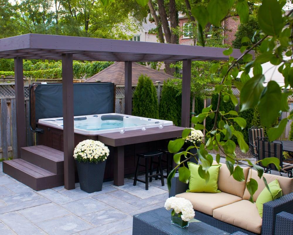 backyard retreat home leisure 12 photos hot tub pool 2528