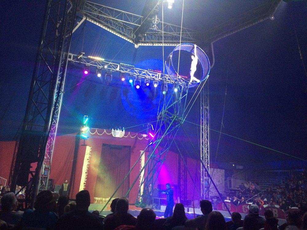 carson and barnes circus: 2694 E 2070 Rd, Hugo, OK