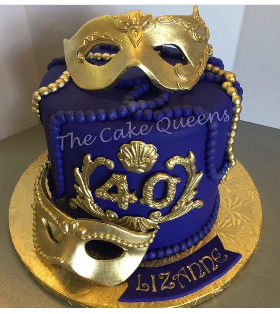 Masquerade 40th Birthday Cake - Yelp