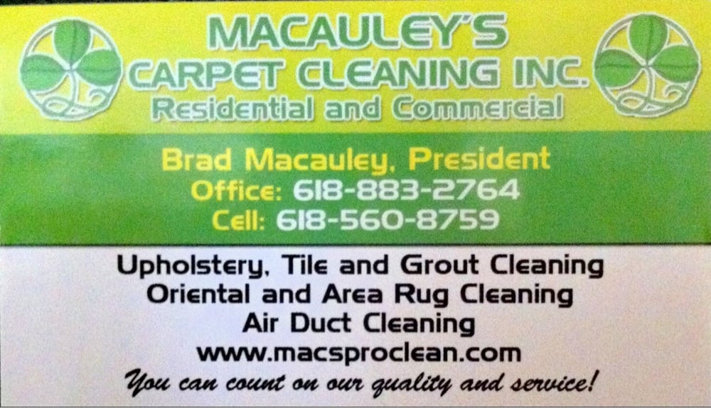Macauley's Carpet Cleaning Inc: Godfrey, IL