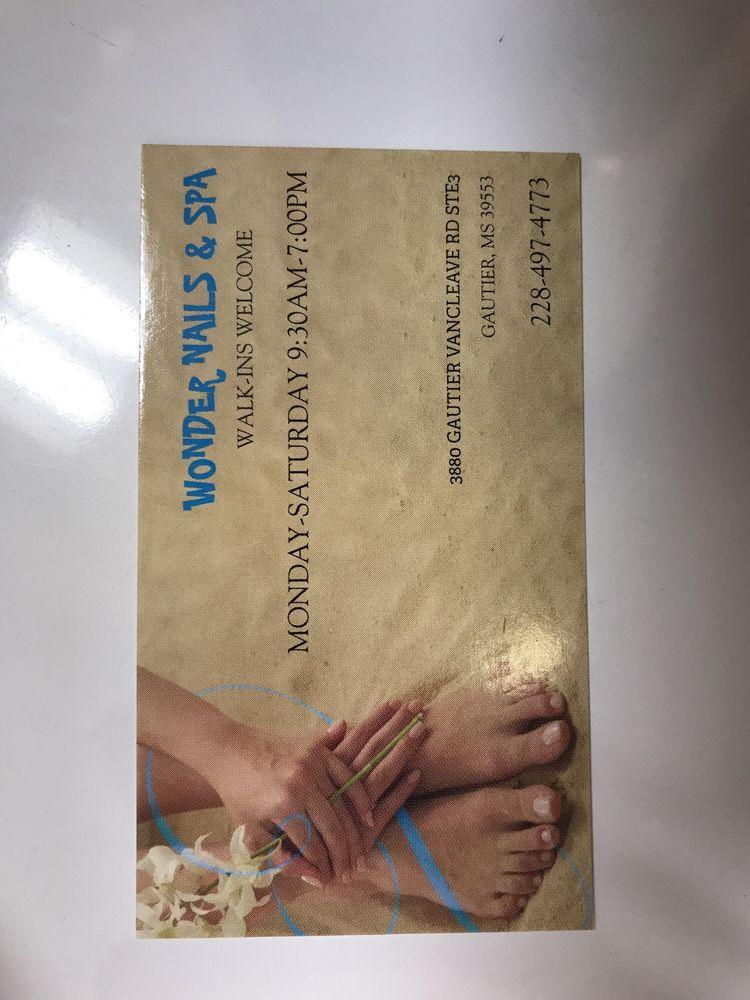 Wonder Nails: 3880 Gautier Vancleave Rd, Gautier, MS
