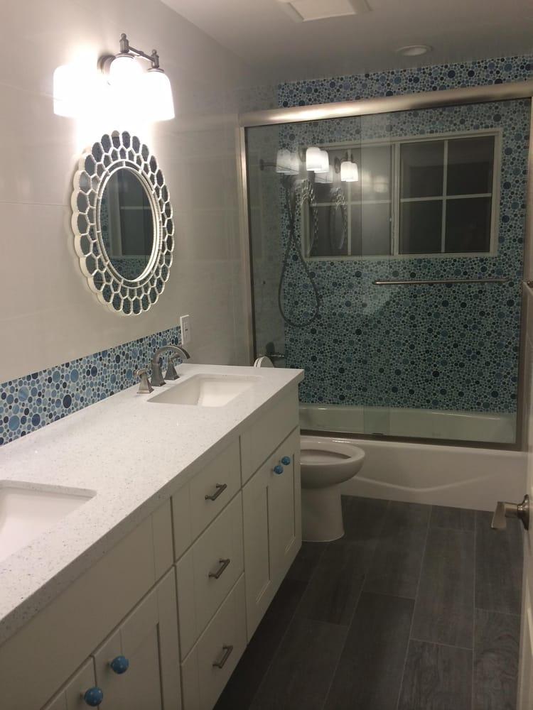 Tile Depot - Porcelanosa Lino Blanco Wall Tile with Blue Bubble ...