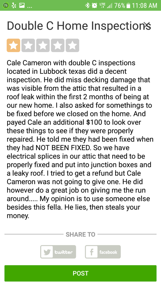 Double C Home Inspections: Lubbock, TX