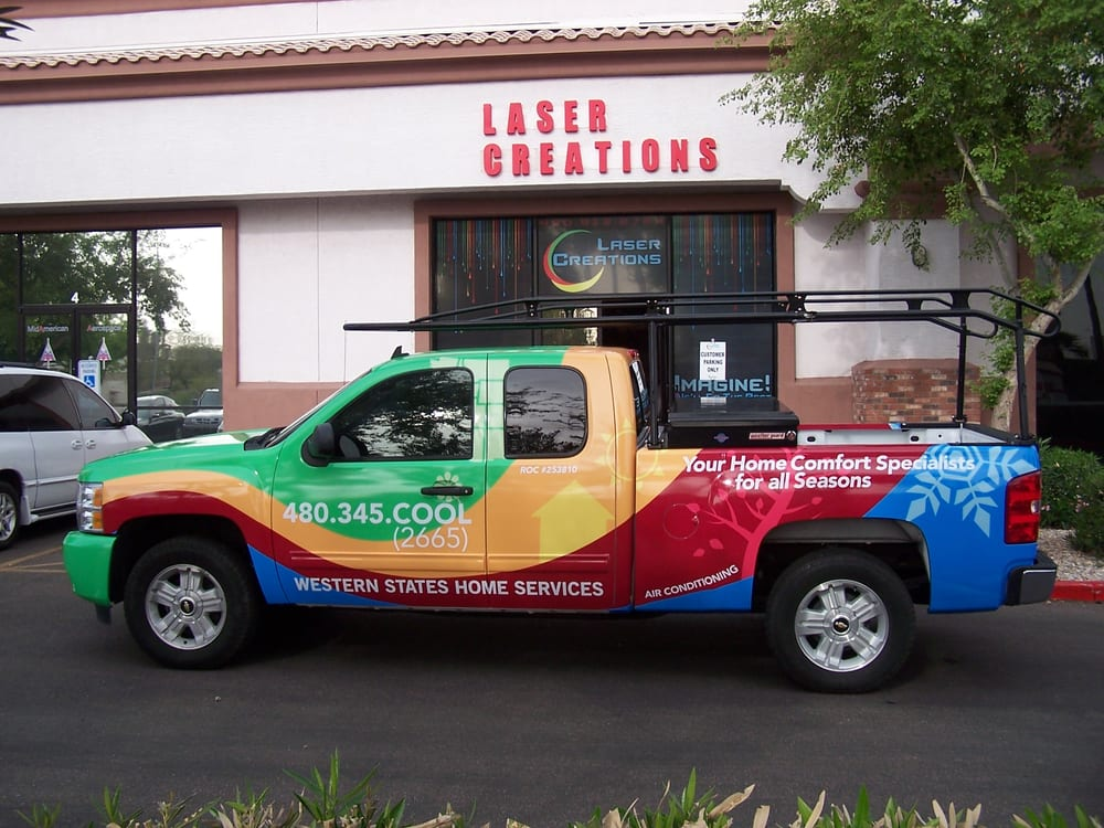 Our Store front with one or our wraps ready for pick up ...