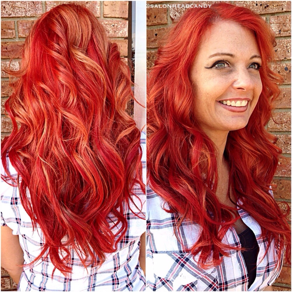 Gorgeous Dimensional Bright Red Mermaid Hair Using Custom Colored