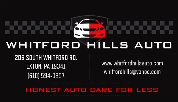 Whitford Hills Auto & Tire Service Center: 206 S Whitford Rd, Exton, PA