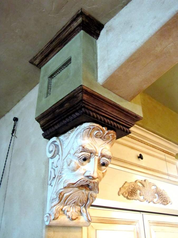 Custom decorative crown moulding accents built for a long for Decorative millwork accents