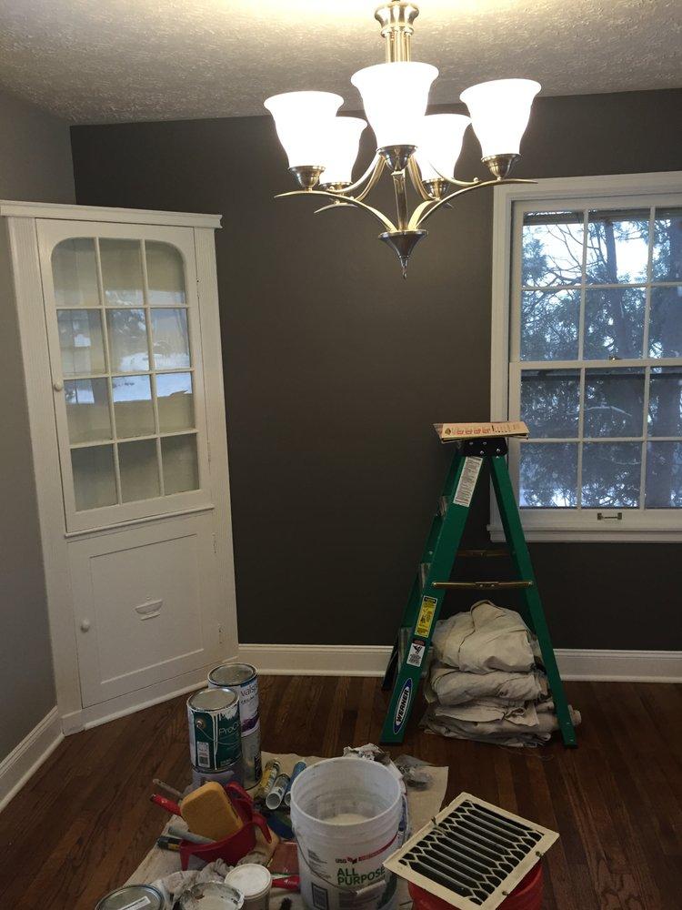 Darker grey gauntlet grey on longer accent wall light grey 36 photos for spot on home improvements aloadofball Gallery