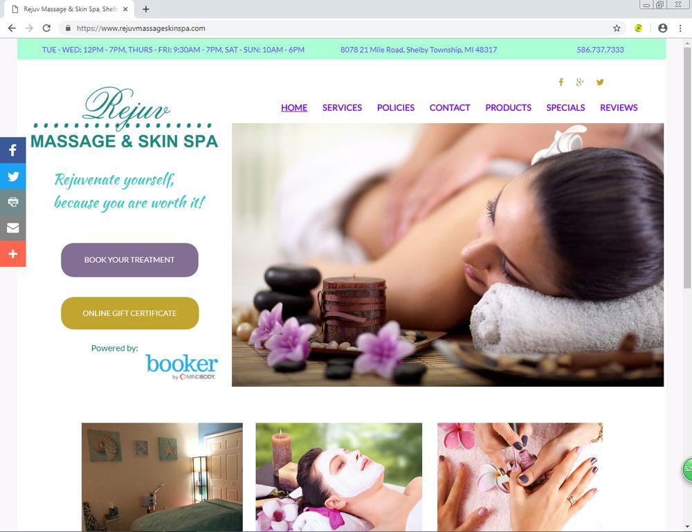 Rejuv Massage & Skin Spa: 8078 21 Mile Rd, Shelby Township, MI