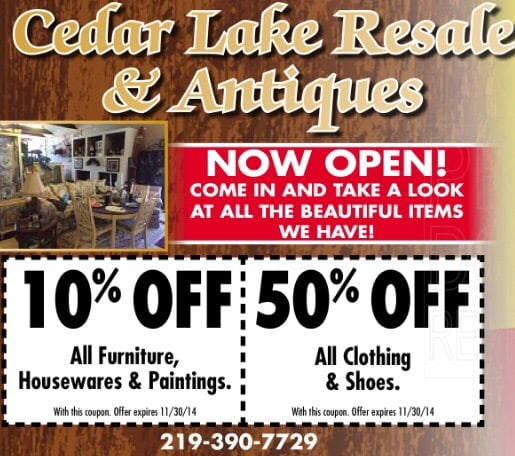 Cedar Lake Resale And Antiques: 12834 Wicker Ave, Cedar Lake, IN