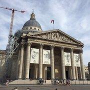 Le Panthéon - Paris, France. Wenigstens ist die Kuppel mal wieder ohne Plane...