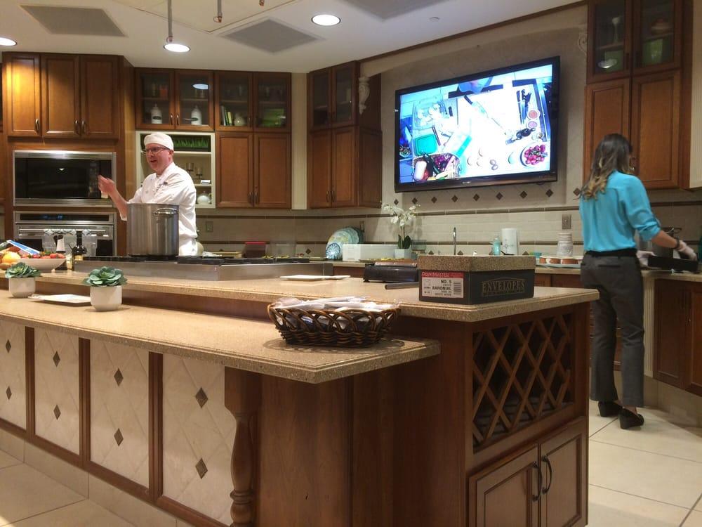Demonstration Kitchen executive chef robert hindley in the demonstration kitchen - yelp