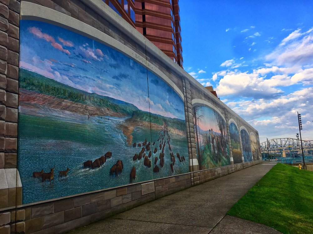 Roebling Murals at the Covington Riverfront: Greenup St To Madison Ave, Covington, KY