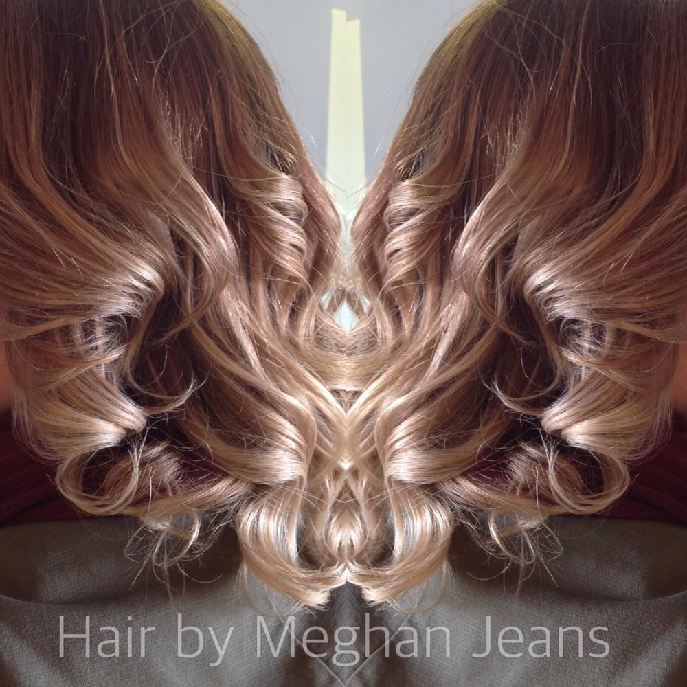 Balayage Ombr Highlighting With A Root Touch Up Includes Cut And