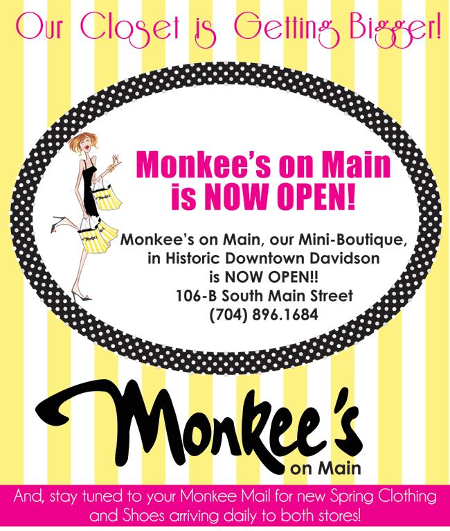 Monkee's on Main: 106 S Main St, Davidson, NC