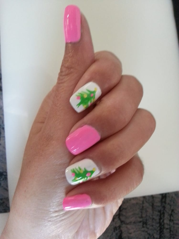 My funky Christmas nails :D - Yelp
