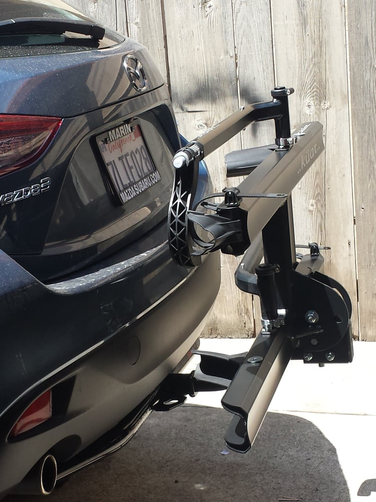 2015 Mazda 3 Sedan Hatchback With A 1 1 4 Trailer Hitch And A Kuat