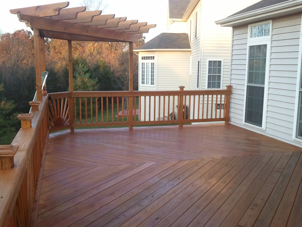 After Yellow Pine Elevated Deck Sealed With Natural