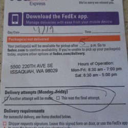 Photo of FedEx Ship Center - Issaquah WA United States. They donu0027  sc 1 st  Yelp & FedEx Ship Center - 18 Reviews - Shipping Centers - 5500 220th Ave ...