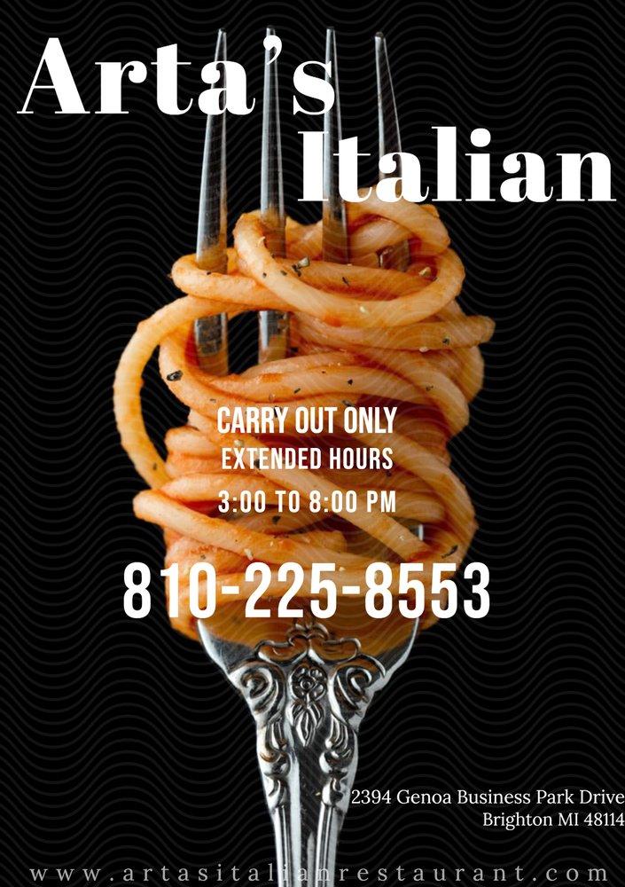 Arta's Italian: 2394 Genoa Business Park Dr, Brighton, MI