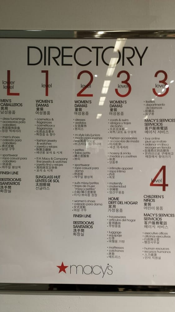 Macy S Flushing Store Directory In English Spanish
