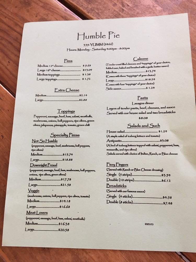 Humble Pie: 117 Main St, Duncan, AZ