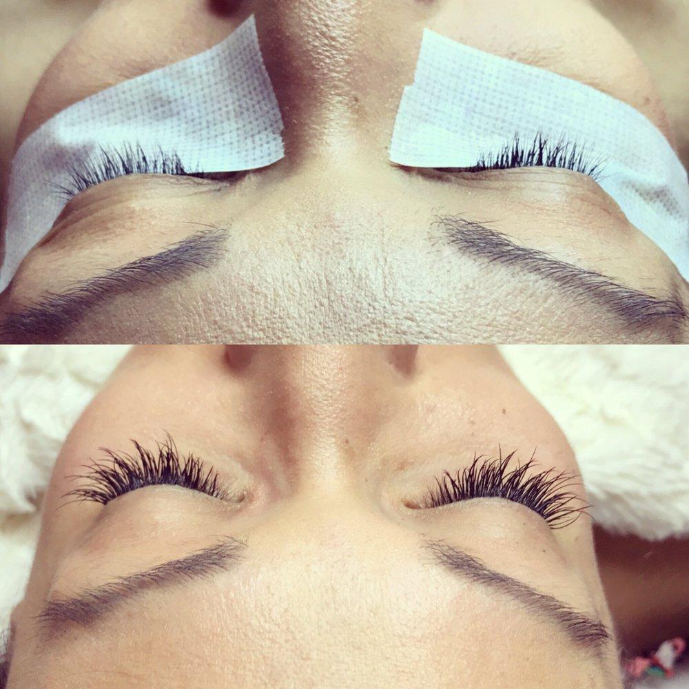 Before and After  Full set NovaLash Mink eyelash extensions