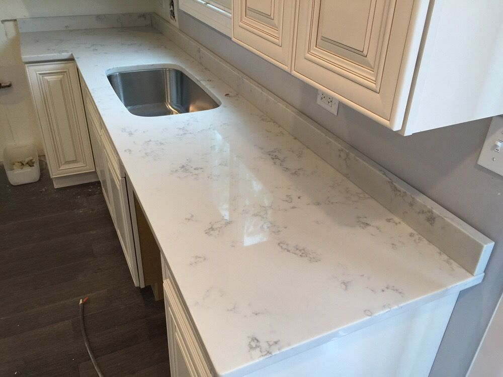 Marble Look Quartz Countertops : Carrara grigio quartz countertop marble look