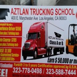 Aztlan Trucking School Driving Schools 400 E Manchester Ave