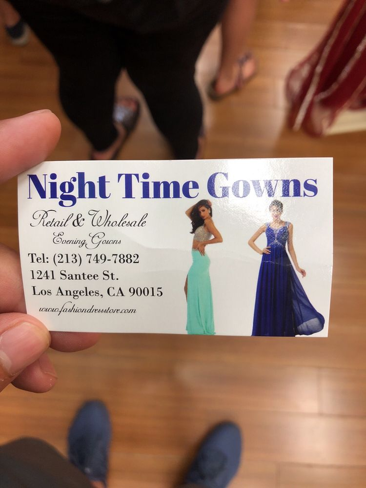 Night Time Gowns - Women\'s Clothing - 1241 Santee St, Downtown, Los ...