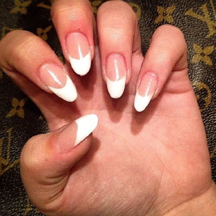 Healthy,safe professional Pink and White French manicure acrylic ...