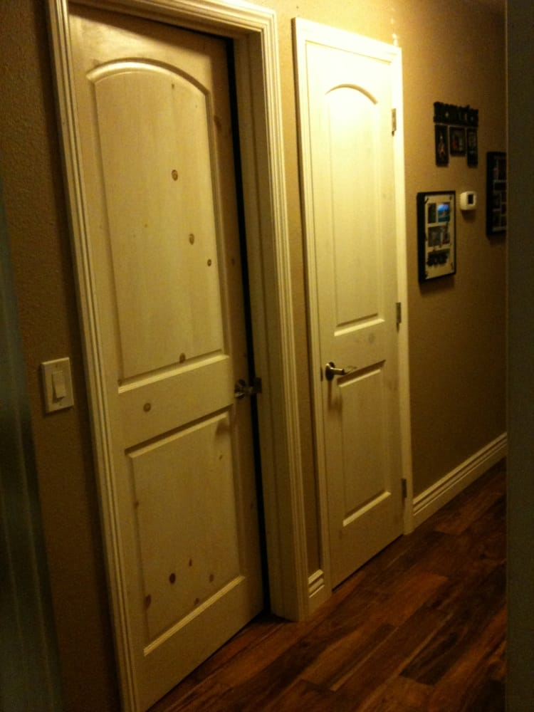 White Washed Knotty Pine Doors New Trim Base Boards And
